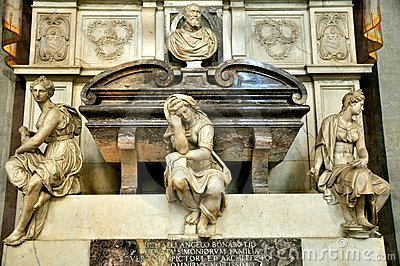 Michelangelo s tomb in Florence, Italy