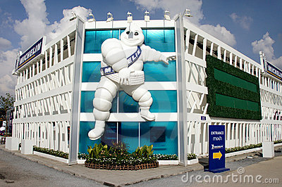 Michelin Pavilion, BOI Fair 2011 Thailand Editorial Stock Photo