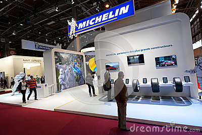 Michelin tires maker at Paris Motor Show 2012 Editorial Stock Photo