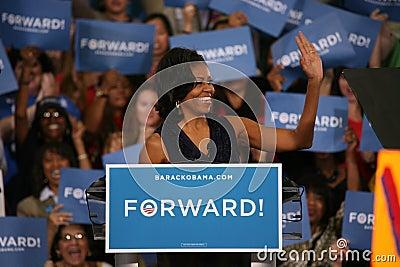 Michelle Obama Redaktionelles Foto