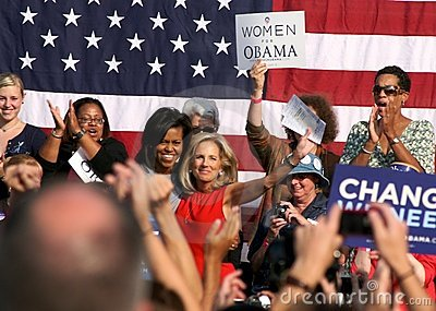 Michelle Obama and Dr. Jill Biden Editorial Stock Image