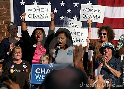 Michelle Obama speech Editorial Photo