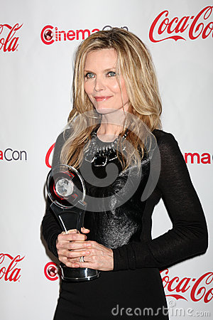 Michelle Pfeiffer arrives at the CinemaCon 2012 Talent Awards Editorial Photography