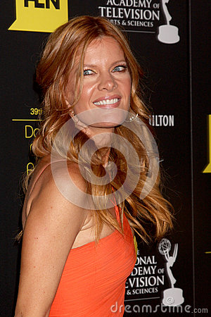Michelle Stafford arrives at the 2012 Daytime Emmy Awards Editorial Stock Photo