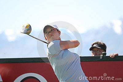 Michelle Wie, Crans Montana Masters 2006 Editorial Stock Photo