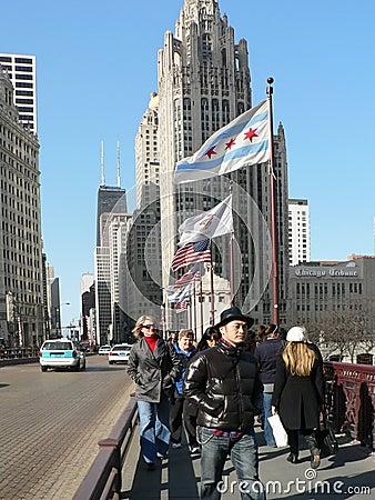 MICHIGAN AVENUE CHICAGO Editorial Stock Photo