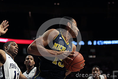 Michigan forward Jon Hortford Editorial Image