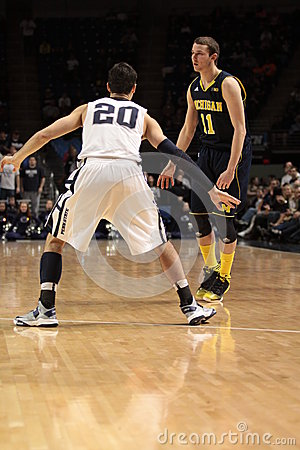 Michigan guard Nik Stauskas Editorial Image