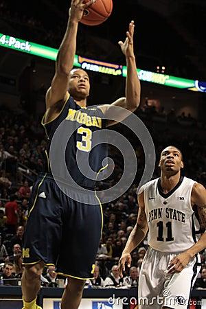 Michigan guard Tret Burke shoots Editorial Image