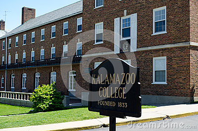 michigan Kalamzoo college campus Editorial Stock Image