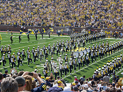 Michigan Marching band Editorial Stock Image
