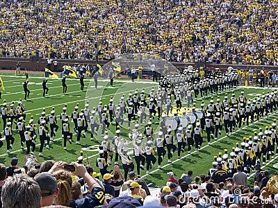 Michigan Marching band Editorial Stock Image