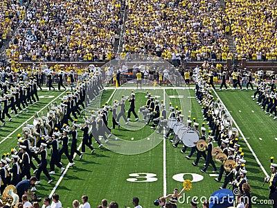Michigan Marching Band Block M Editorial Photo