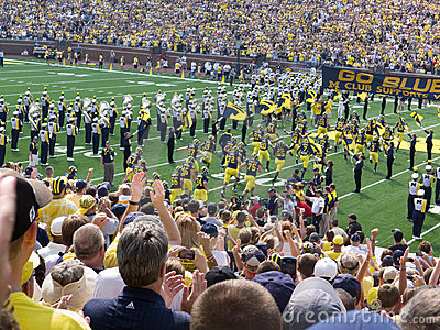 Michigan players take the field Editorial Photo
