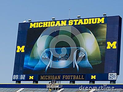 Michigan Stadium gets new scoreboards Editorial Photo
