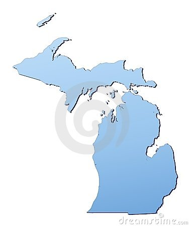 Michigan(USA) map