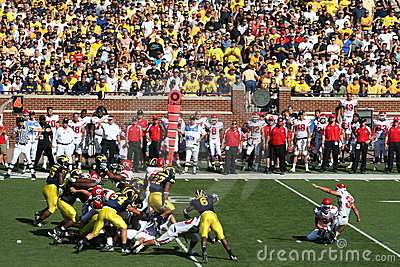 Michigan Wolverines Field Goal Block Editorial Stock Photo