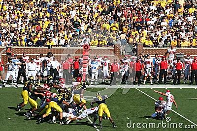 Michigan Wolverines Field Goal Block Editorial Stock Photo