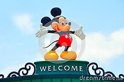 мышь mickey иконы Дисней Редакционное Стоковое Изображение