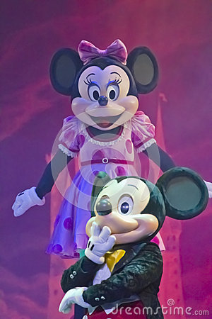 Mickey en Muis Minnie Redactionele Foto
