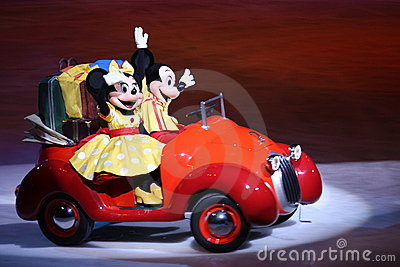 Mickey and Minnie in Disney on Ice Editorial Photo