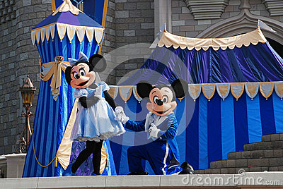 Mickey and Minnie in magic kingdom Editorial Photo
