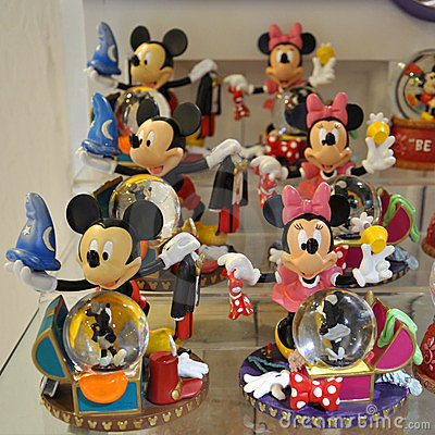 Mickey and Minnie Mouse decoration Editorial Photography