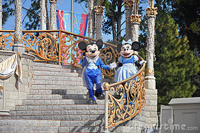 Mickey and Minnie Mouse in Disney World Editorial Photo
