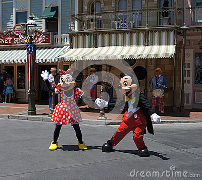 Mickey and Minnie Mouse at Disneyland Editorial Photo