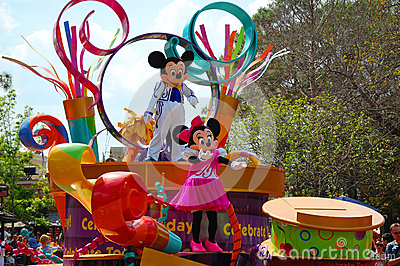 Mickey and Minnie Mouse Editorial Stock Photo