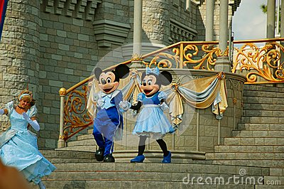 Mickey and Minnie on stage Editorial Image