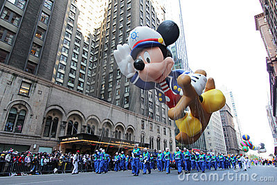 Mickey mouse balloon in Macy s parade Editorial Photography