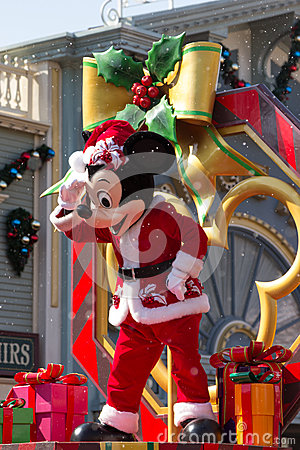 MICKEY MOUSE Celebrate Christmas New Year Editorial Stock Photo