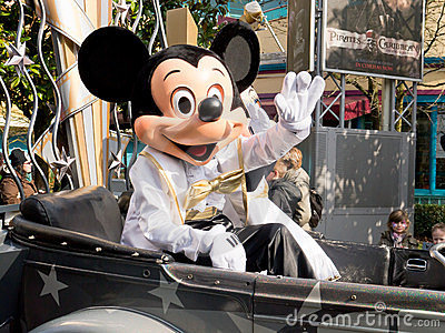 Mickey Mouse at Disneyland Paris cars and stars pa Editorial Photography