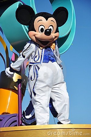 Mickey Mouse in A Dream Come True Celebrate Parade Editorial Photography