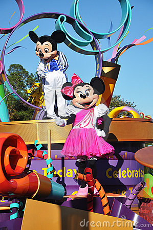 Mickey Mouse in A Dream Come True Celebrate Parade Editorial Stock Image