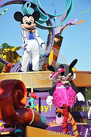 Mickey Mouse in A Dream Come True Celebrate Parade Editorial Stock Photo