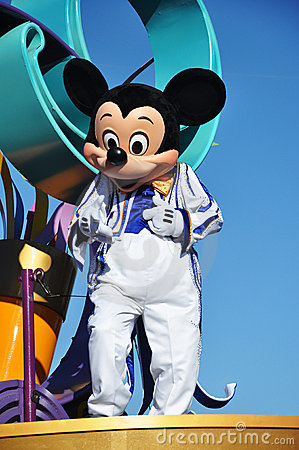 Mickey Mouse in A Dream Come True Celebrate Parade Editorial Photo