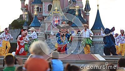 Mickey Mouse e seus amigos Foto Editorial
