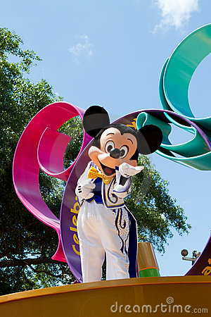 Mickey Mouse em uma parada Foto Editorial