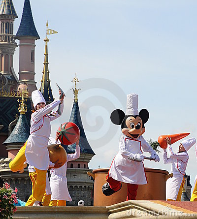 Mickey Mouse and fairy tale friends Editorial Stock Photo