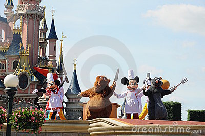Mickey Mouse and fairy tale friends Editorial Image