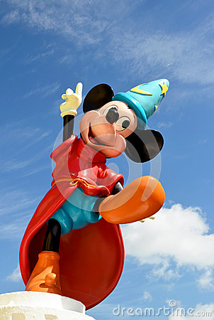 Mickey mouse fantasia disney figure Editorial Photography