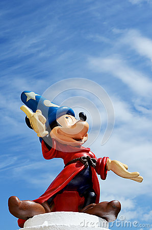 Mickey mouse fantasia disney figure Editorial Image