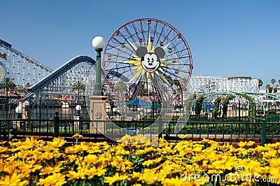 Mickey Mouse Ferris Wheel Disneyland Editorial Stock Image