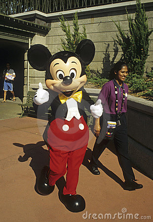 Mickey Mouse gives thumbs up Editorial Stock Photo