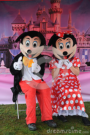 Mickey Mouse and Minie Mouse Editorial Stock Photo