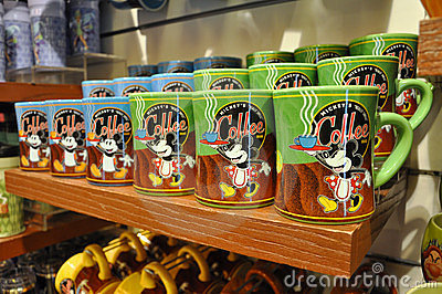 Mickey Mouse Mug in Disney Store Editorial Stock Image