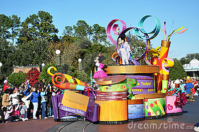 Mickey Mouse Parade Float in Disney World Editorial Stock Photo