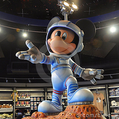 Mickey Mouse In Space Suit Editorial Image - Image: 23287170